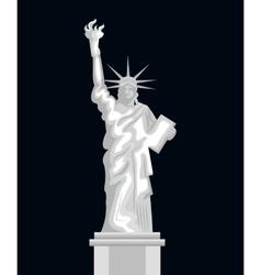 Liberty statue american emblem vector