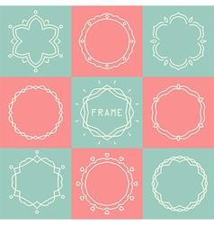 line frames set vector image vector image