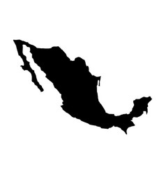 mexican map isolated icon vector image vector image