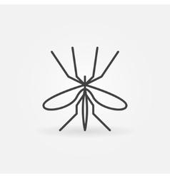 Mosquito icon or logo vector
