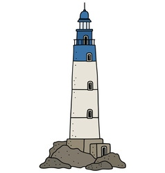 Old stone lighthouse vector