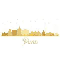 Pune skyline golden silhouette vector