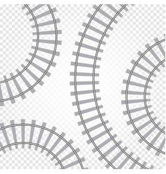rail railroad track railway vector image