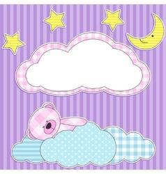 sleeping pink bear vector image vector image