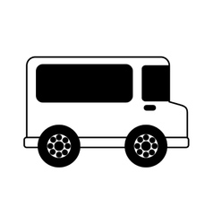 Van delivery vehicle isolated icon vector