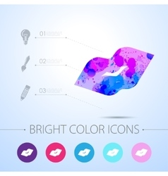 watercolor icon vector image