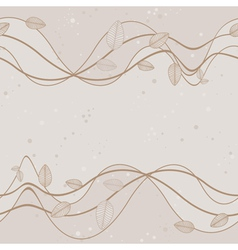Wavy Branches With Leaves Background vector image