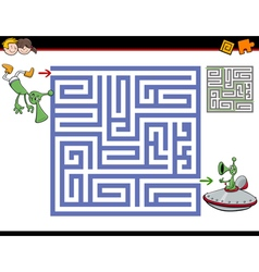 Maze activity for kids vector
