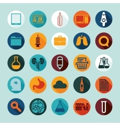 Set of medicine icons vector