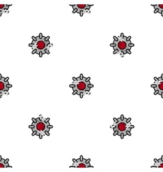 Bomb flat icon pattern vector