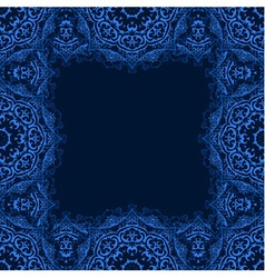 Frame with copy space frame from blue snowflake vector