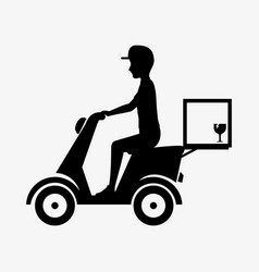 Fast delivery service icon vector