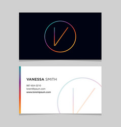 Business-card-letter-v vector