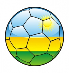 rwanda flag on soccer ball vector image