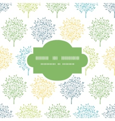 Summer trees colorful frame seamless pattern vector