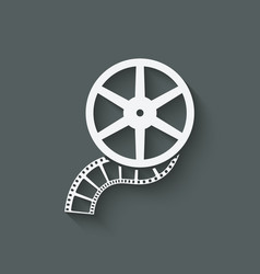 Film roll design element vector