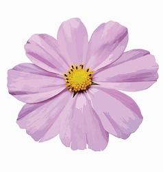 Violet flower vector