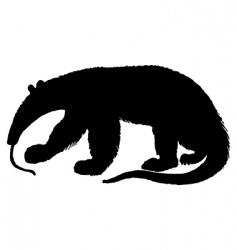Anteater silhouette vector
