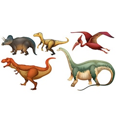 A group of dinosaurs vector