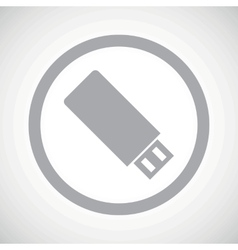 Grey usb stick sign icon vector
