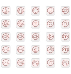 Set of 25 quality icon vector