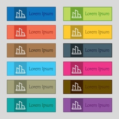 Diagram icon sign set of twelve rectangular vector