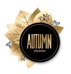 Gold fall design vector