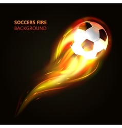 Soccer ball in flames concept vector
