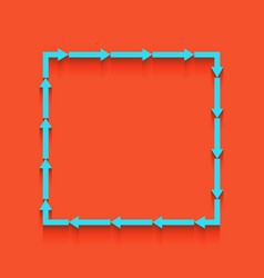 Arrow on a square shape whitish icon on vector
