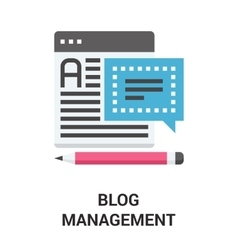 blog management icon concept vector image vector image