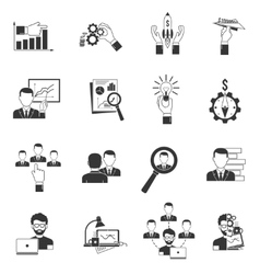 Business Icon Black vector image vector image