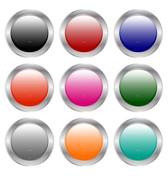 colorful buttons vector image