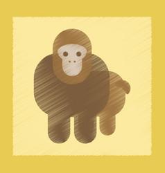 Flat shading style icon cartoon monkey vector
