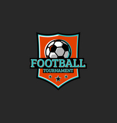 football tournament club or league sticker sport vector image vector image