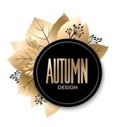 Gold fall design vector