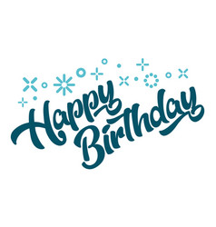 Happy birthday greeting invitation card vector