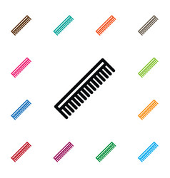Isolated hairbrush icon barber tool vector