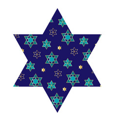 jewish star with pattern vector image