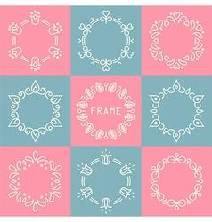 line frames set vector image