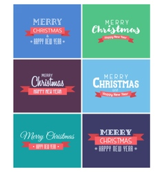 Merry christmas and new year cards vector