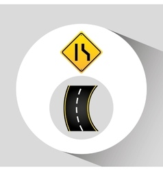 Narrows road sign concept graphic vector