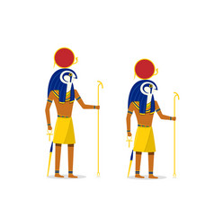 Ra god of the sun isolated on white in art vector