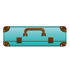 Realistic silhouette with blue suitcase vector