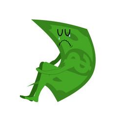 Sad money sorrowful cash crying dollar sadness vector