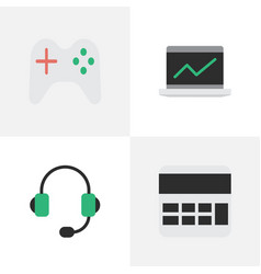 Set of simple devices icons vector