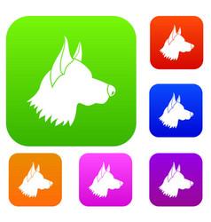 Shepherd dog set collection vector
