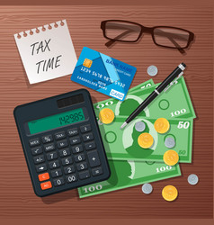 Tax time concept design element flat style vector