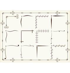 Vintage corner design elements vector