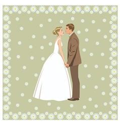 Wedding couple vector