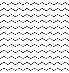 Zig zag chevron black and white tile pattern vector image vector image